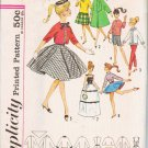 Simplicity Pattern 4700 Barbie & Friends Doll Weekend Wardrobe 11-1/2 inches