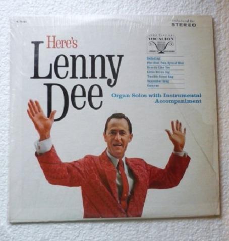 Heres Lenny Dee lp by Lenny Dee Organ Solos vl 73782