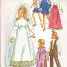 Simplicity Pattern 9097 - 11.5 inch Barbie and Fashion Doll Wardrobe Dress Clothes
