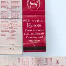 Sheraton Hotels Matchbook Cover - Vintage - Match book