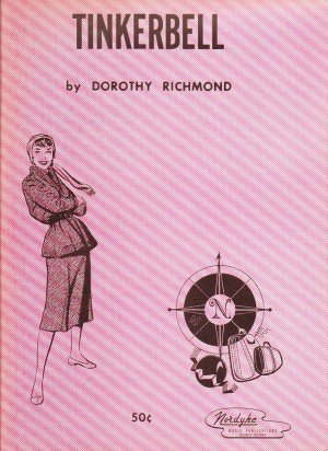 Tinkerbell Sheetmusic by Dorothy Richmond - 1960 Nordyke