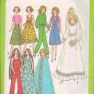 Barbie Cher Farrah Simplicity Clothing Pattern 8281 Wedding Gown, Sundress Plus