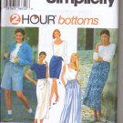Simplicity Uncut Pattern 9432 - Two Hour Shorts, Skirts, Pants  AA xs s m