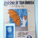 Let A Smile Be Your Umbrella sheetmusic 1927 Kahal Fain and Wheeler