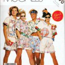 McCalls Uncut Pattern p970 / 3037 Misses Teen Boys Mens Shirt Short Ex Small