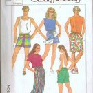 Simplicity Uncut Pattern 7501 Misses Mens Teens Jams in 3 Lengths Sz Med