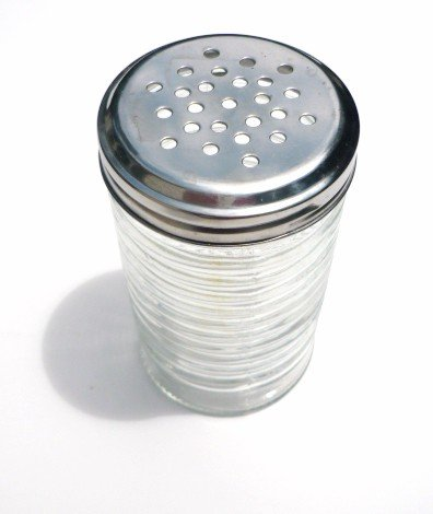 Retro Style Beehive Clear Glass Cheese Spice Shaker