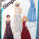 Simplicity Pattern 6479 Misses Jumper and Dress Sizes 6 and 8