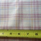 Berry and Tan Plaid Fabric Material 18 x 45 Inch Remnant