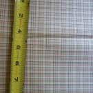 Green Tan Plaid Fabric Material Remnant 15 x 32+ Inches
