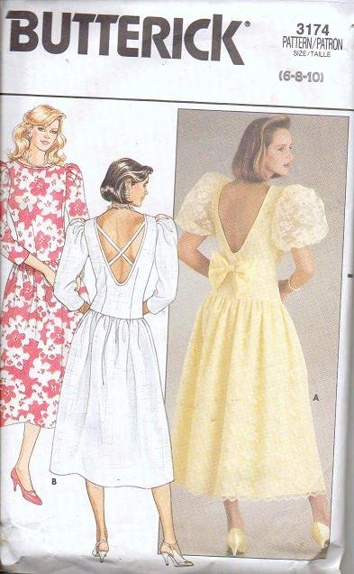 Butterick Pattern 3174 Misses Formal Dress Sizes 6 8 10