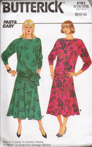 Butterick Pattern 4101 Misses Dress Sizes B 8-10-12 - Fast and Easy