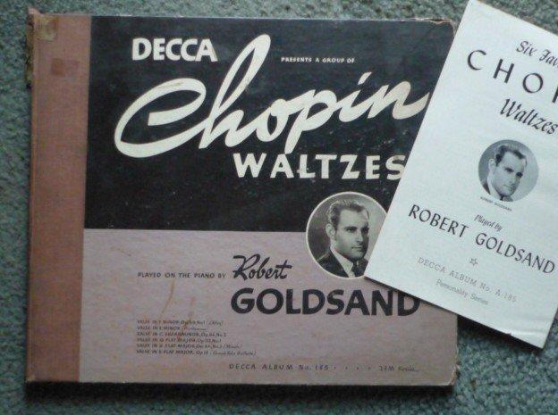 Rare Chopin Waltzes 78 rpm - Three Record Set Robert Goldsand Piano