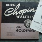 Rare Chopin Waltzes 78 rpm - Three Record Set Robert Goldsand Piano
