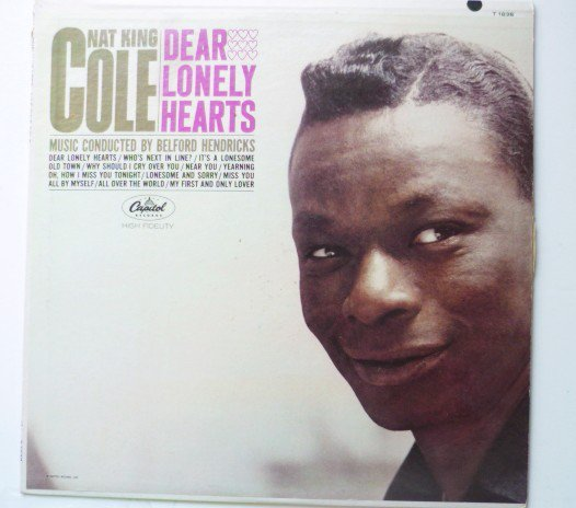 Dear Lonely Hearts lp - Nat King Cole T1838