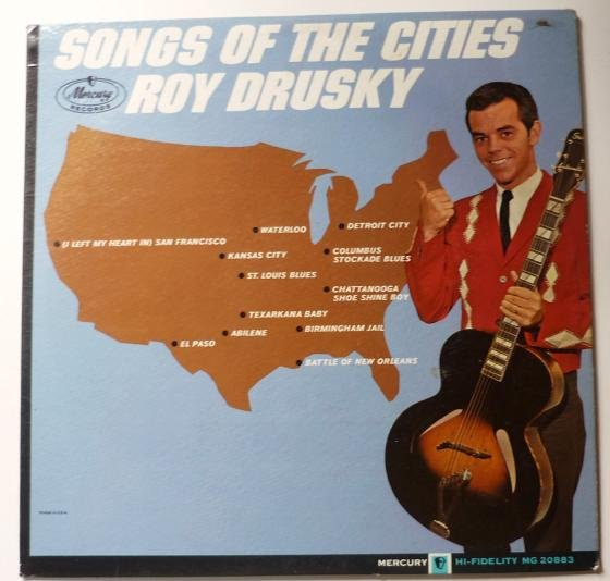 Songs of the Cities lp by Roy Drusky - MG 20883