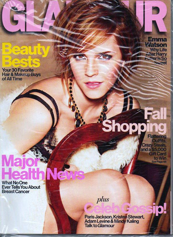 Glamour Magazine - No Label - UNREAD - October 2012 Emma Watson Beauty Bests