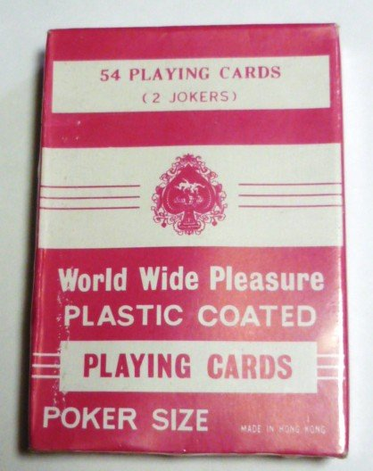 World Wide Pleasure Poker Cards Made in Hong Kong - Sealed - New Vintage