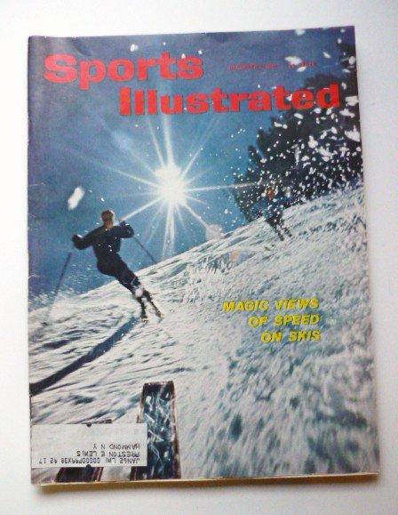 Sports Illustrated Mag December 4 1961 Skiing Pool Bridge - Rare
