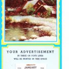 Salesman Calendar Sample Vintage 1956 - Holiday Winter Scene