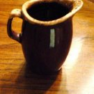 Vintage Hull Mirror Brown Drip Creamer Syrup Pitcher