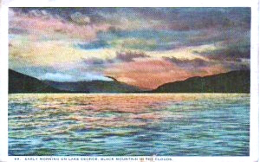Lake George NY New York Post Card Early 1900s Unused