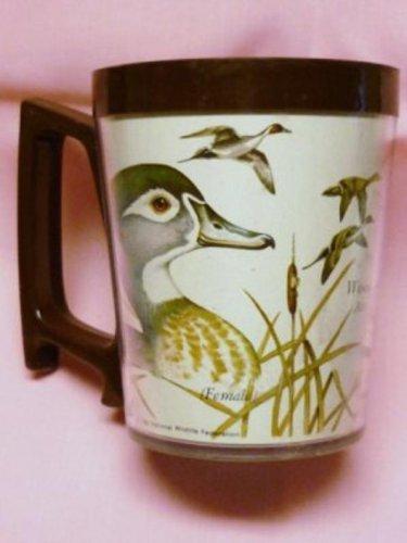 1980 National Wildlife Federation Plastic Mug Wood Duck