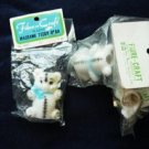 Three Fibre-Craft Plastic Macrame Teddy Bear 2 1/4 Inch New in Package