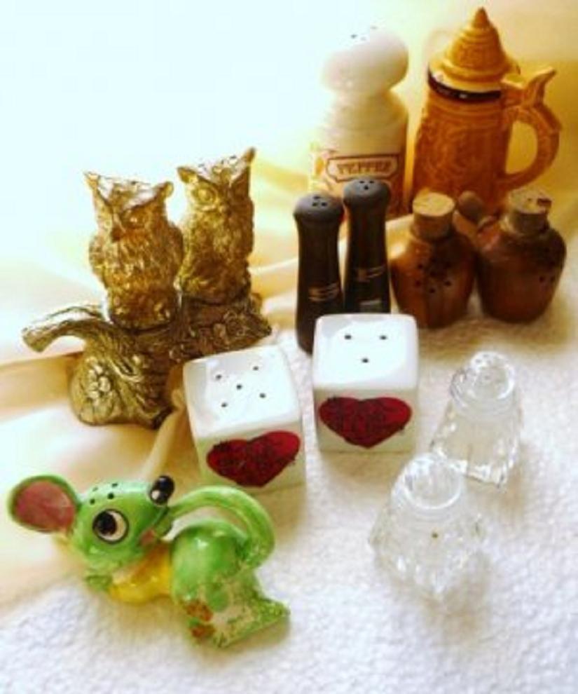 23 Salt and Pepper Shakers: Individual and Sets - Vintage - Hong Kong USA Etc