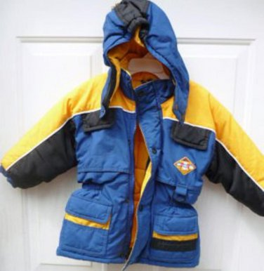 Boys Hooded Overcast Heavy Winter Jacket Sz 2T
