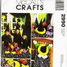 McCalls Sewing Pattern 2990 Uncut 9 Pc Halloween Wizard, Centerpiece,Tablecloth+++