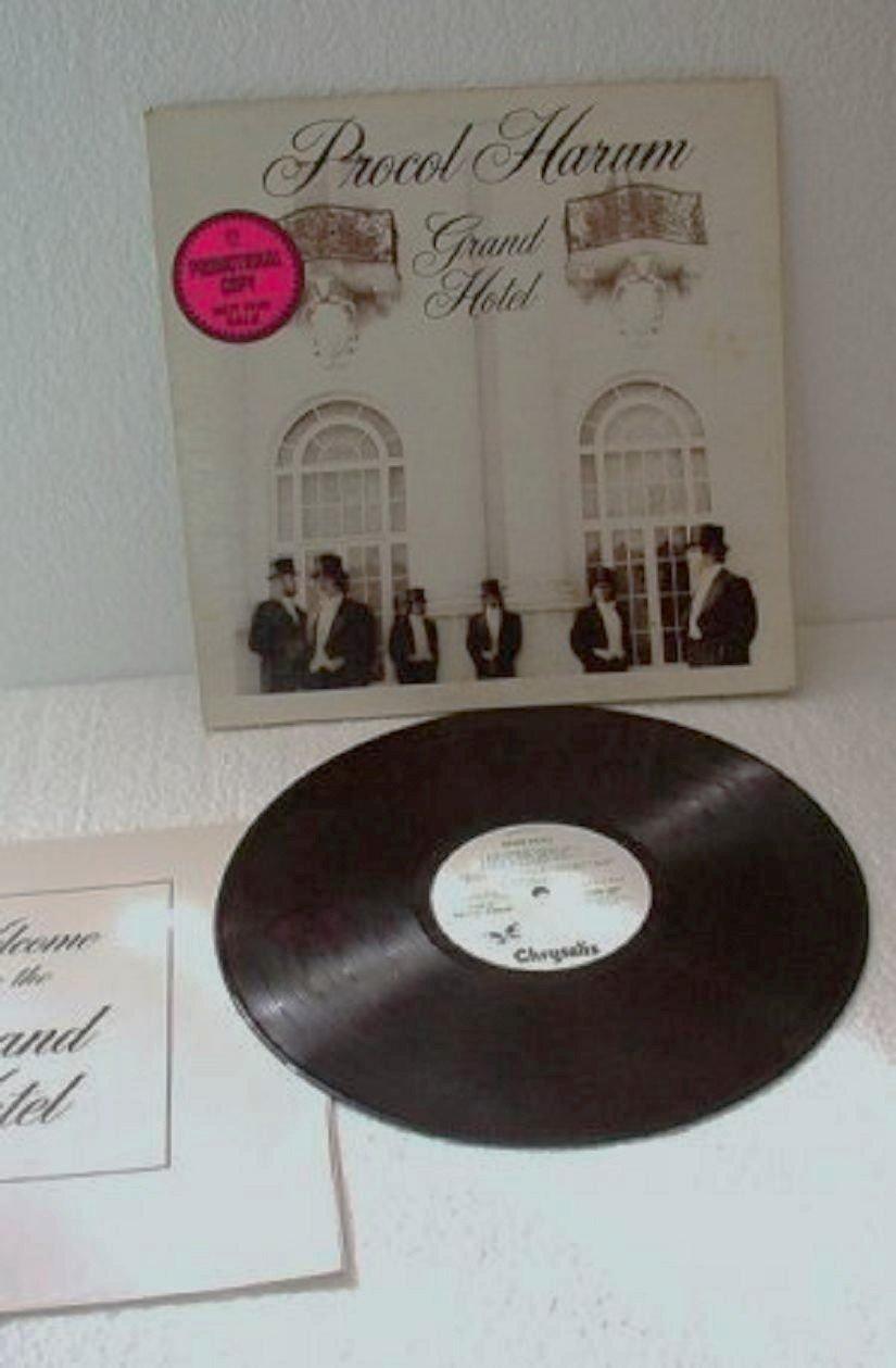 Grand Hotel lp Record by Procol Harum Promo w Brochure White Label 1973 lp