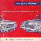 Original Owners Manual for RAMBLER 1961 Classic 6 V-8 Ambassador V-8