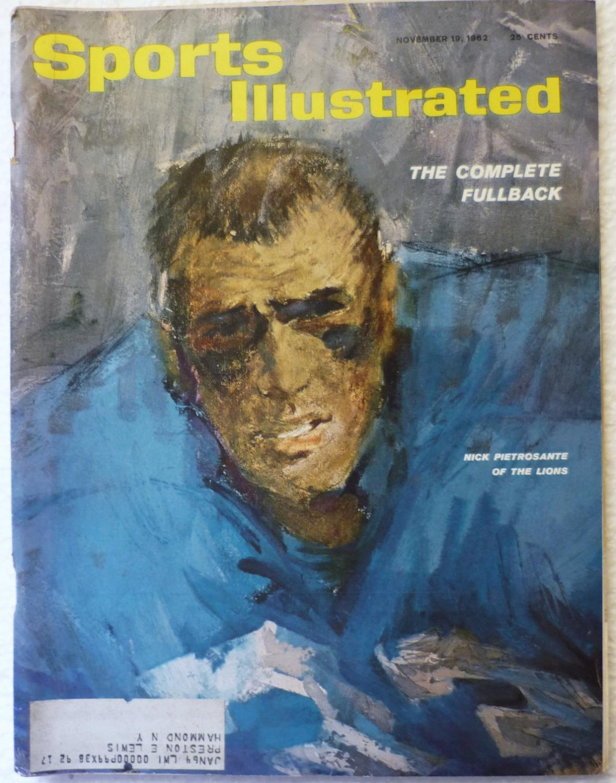 Sports Illustrated Magazine November 19 1962 Nick Pietrosante on Cover