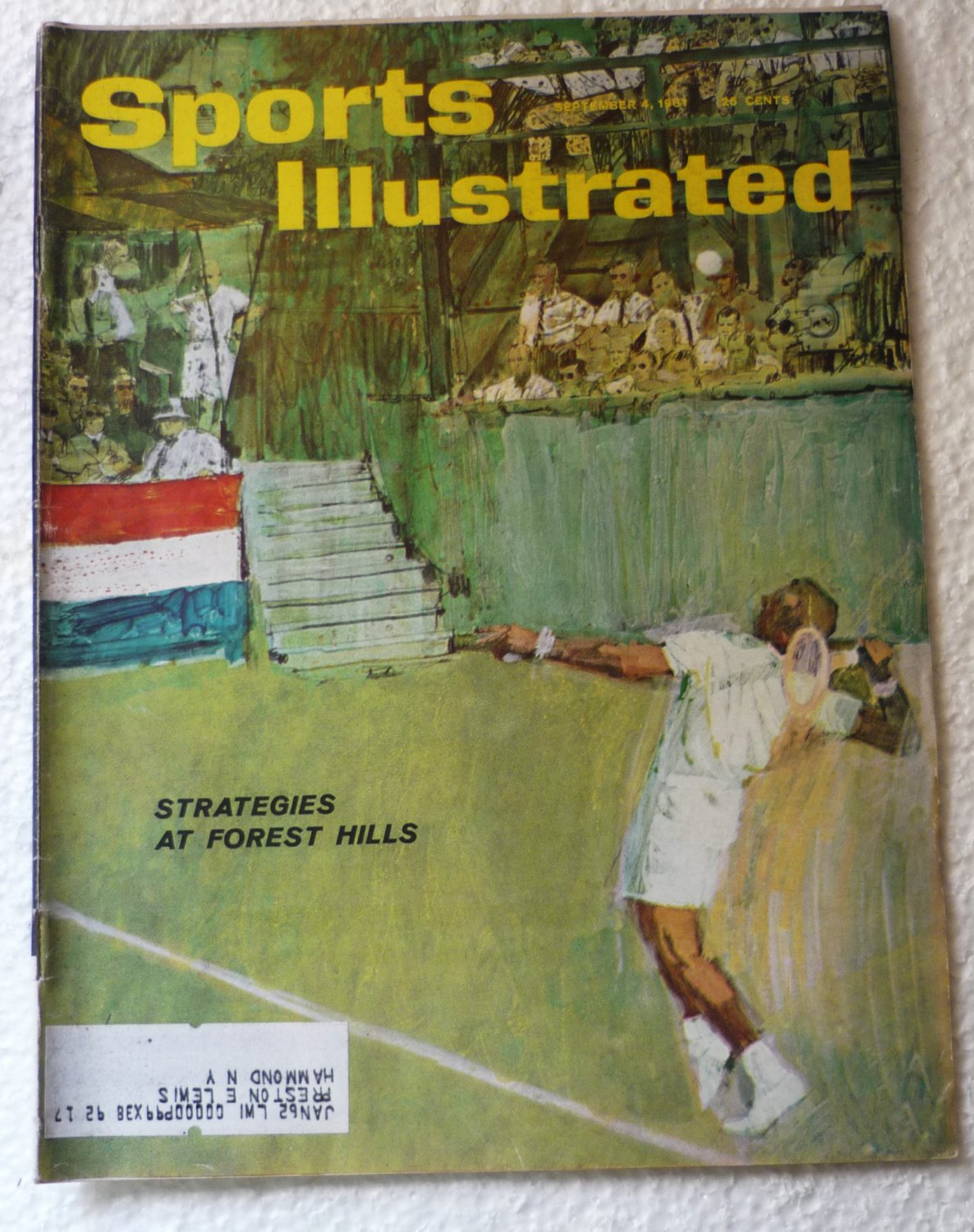 Sports Illustrated Magazine Sept 4 1961 Forest Hills Strategies on Cover