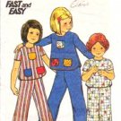 Pants and Top Childrens Butterick 4142 Fast and Easy Outfit