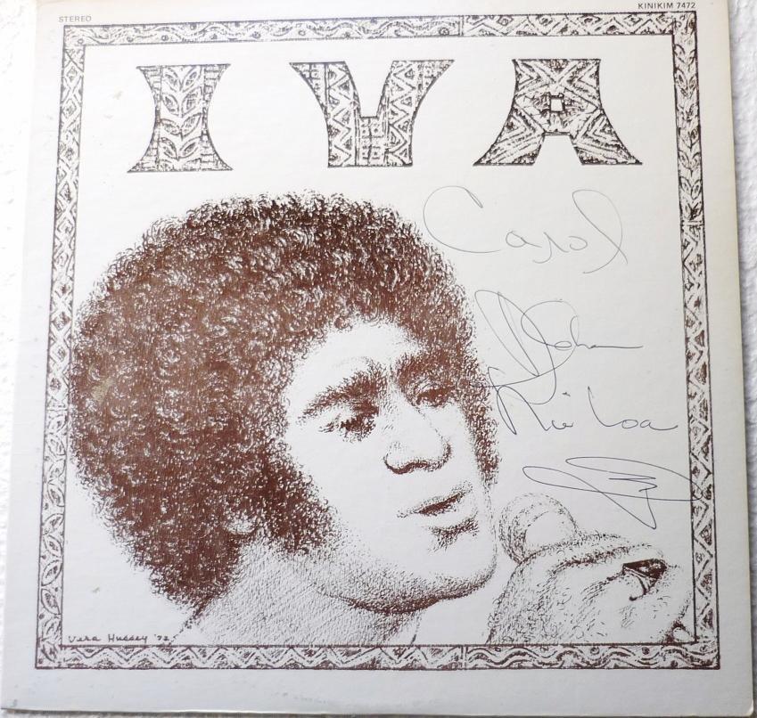Iva Autographed lp by Iva Kinimaka