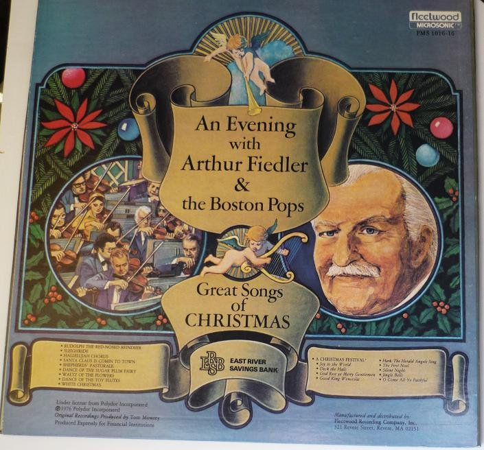 An Evening With Arthur Fiedler & Boston Pops lp Arthur Fiedler - Christmas