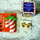 1992 New Avon Holiday Clip On Earrings and Candy Cane Magnet Vintage