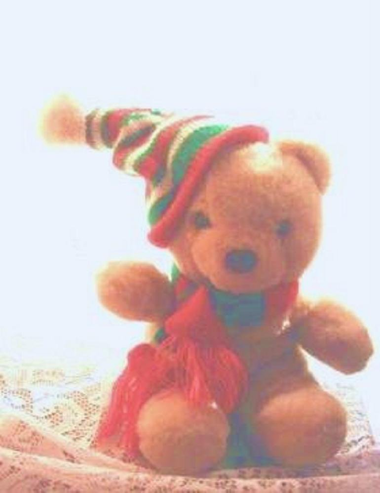 Cuddle Wit Christmas Bear 1980s Plush - Rare