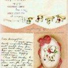 Christmas Card w/Lamb Personal Notation Vintage 1943
