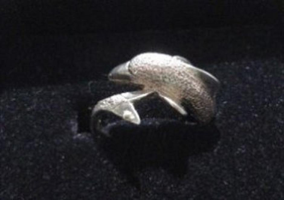 Vintage Dolphin Wrap Ring in Sterling Silver Size 6.5 As New