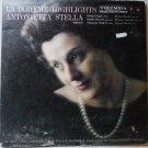 Puccini: La Boheme Highlights lp by Antoinetta Stella - Soprano