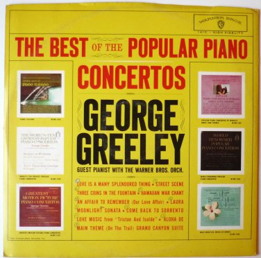 The Best of the Popular Piano Concertos lp George Greeley