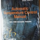 NEW: Automatic Temperature Control Manual 1991-1998 Domestic Vehicles