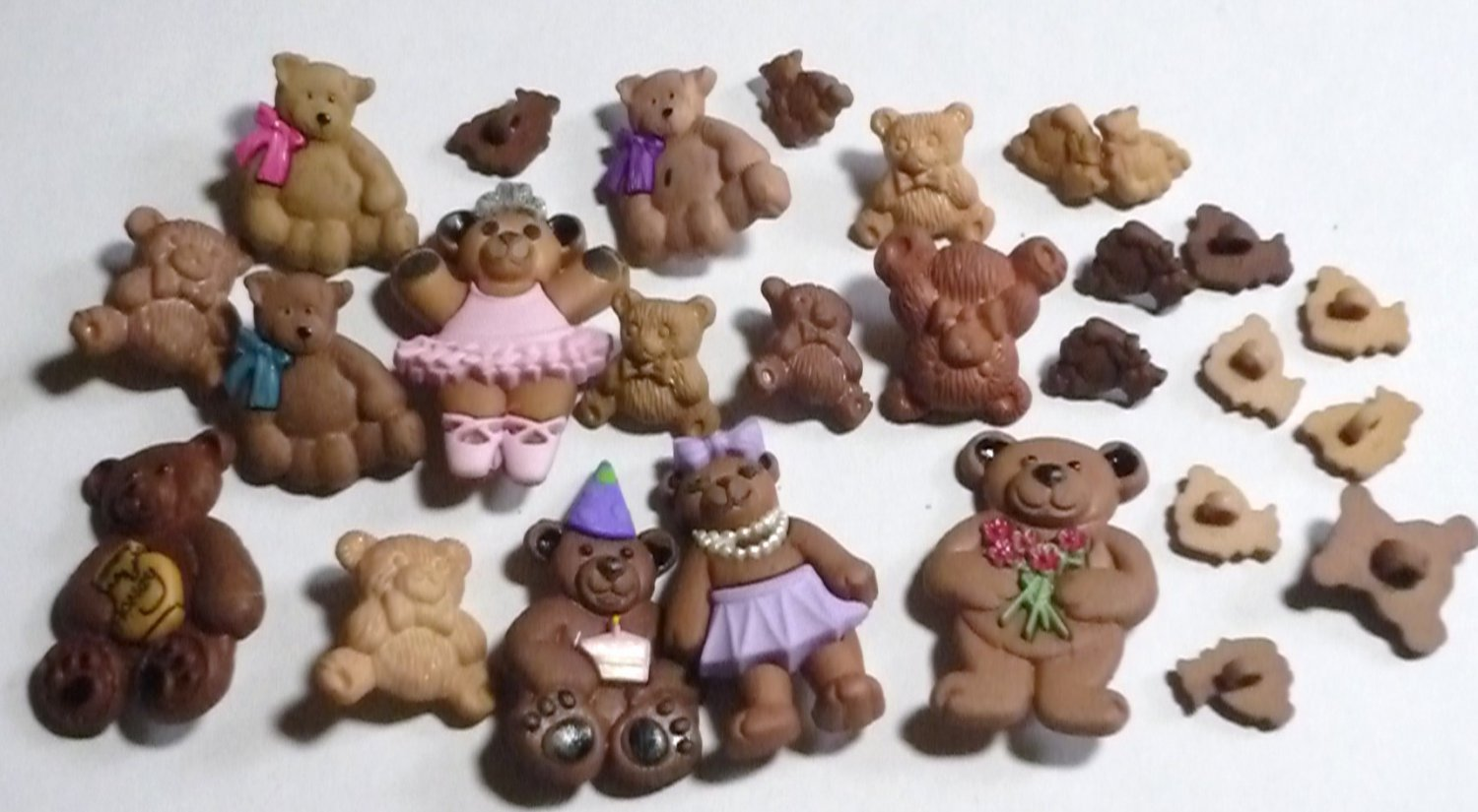 27 Bear Buttons - Some Decorated Ballet Birthday