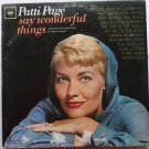 Say Wonderful Things lp by Patti Page