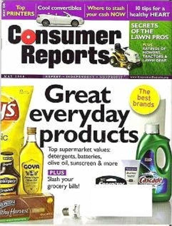 Consumer Reports Magazine May 2008 Detergents Lawns Refrigerators