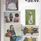 Kwik Sew Pattern 1179-Childs sleepingbag/towel/dufflebag/pillow/doll clothes NEW