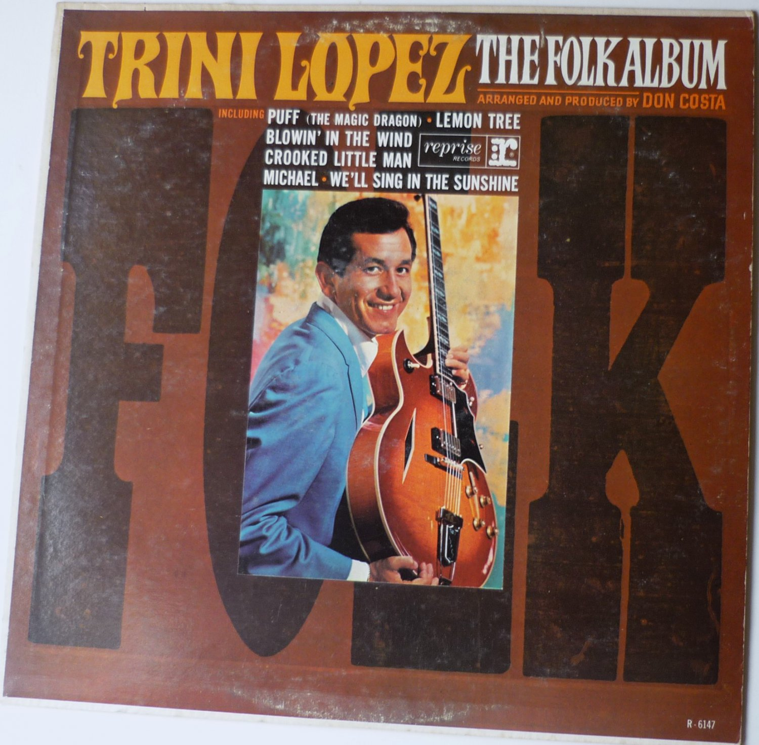 Trini Lopez : The Folk Album lp